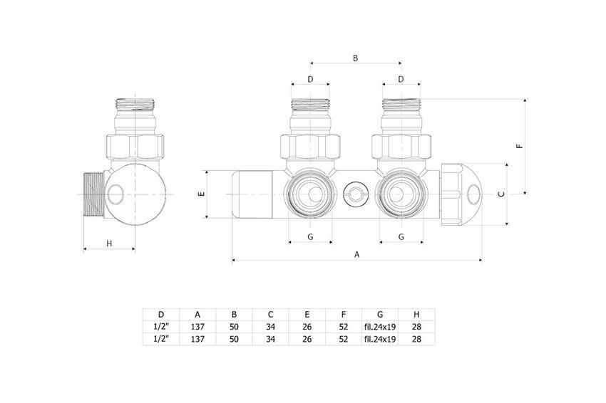 Zestaw zintegrowany termostatyczny 5 cm prawy czarny Excellent Volaro rysunek