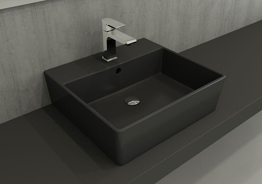 Umywalka meblowa/nablatowa/wisząca 50 cm Matt Anthracite Bocchi Milano