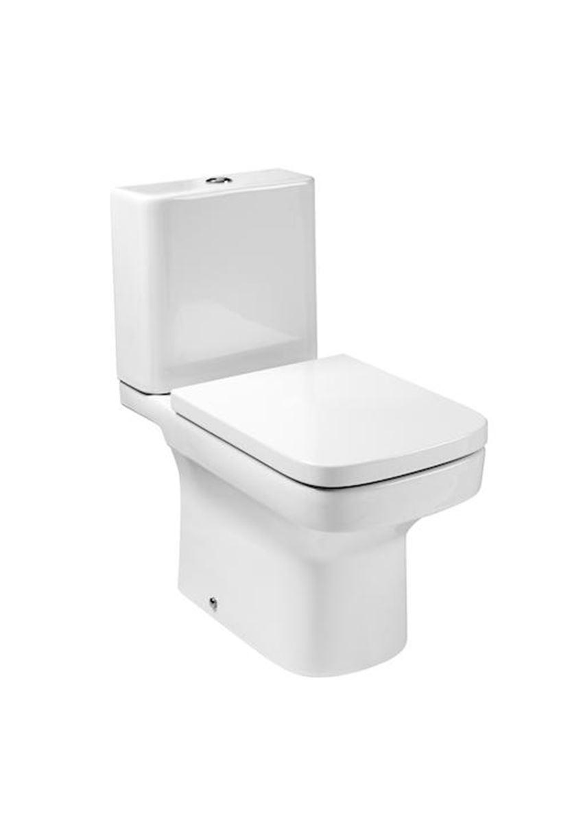 Miska do kompaktu WC z powłoką MaxiClean 36,5x66x76 cm Roca Dama-N