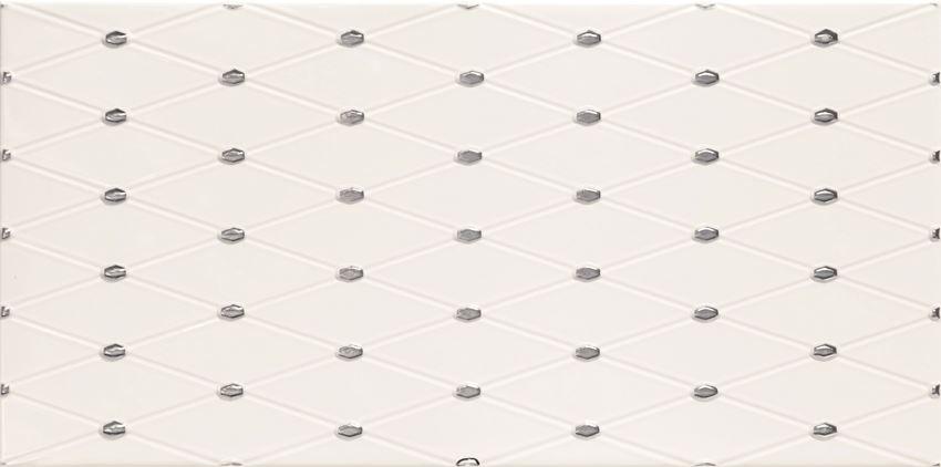 Dekor ścienny 44,8x22,3 cm Domino Biel point