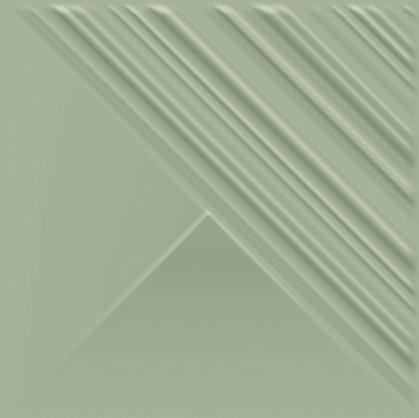 Płytka ścienna 19,8x19,8 cm Paradyż Feelings Green Ściana Struktura Połysk