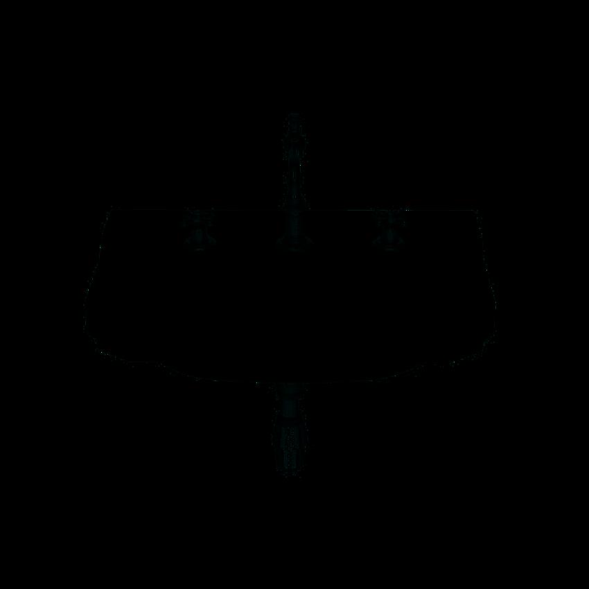 Umywalka ścienna 3 otwory pod baterię 65x48x22,5 cm Roca Carmen
