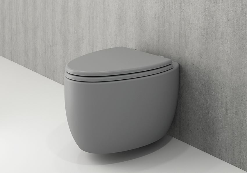 Miska WC wisząca bez deski Matt Grey Bocchi Etna