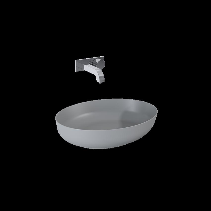 Umywalka nablatowa light grey matt 52x13x39,5 cm Elita Rika