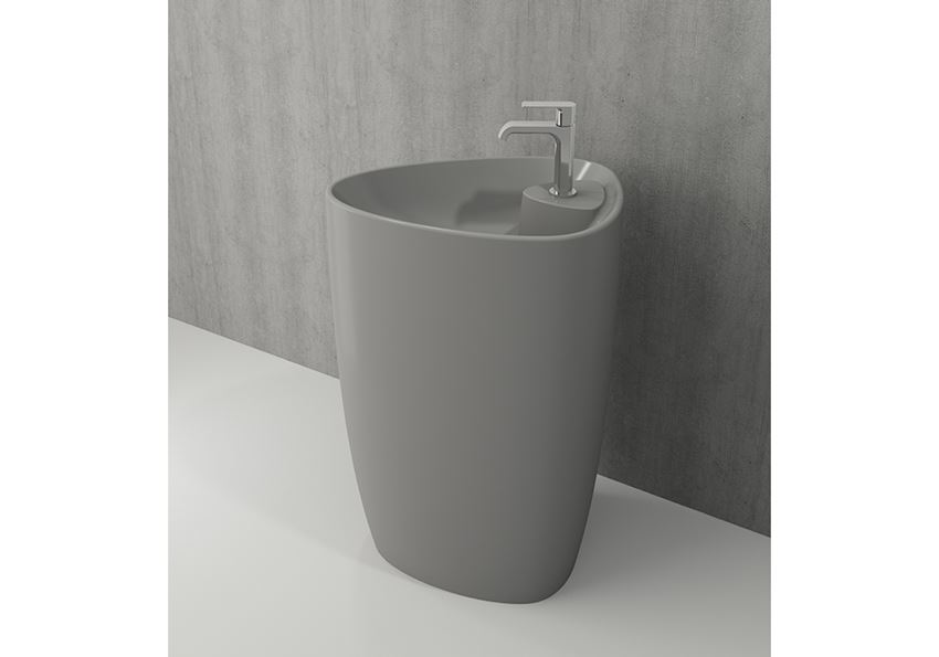 Umywalka monoblok Matt Grey Bocchi Etna