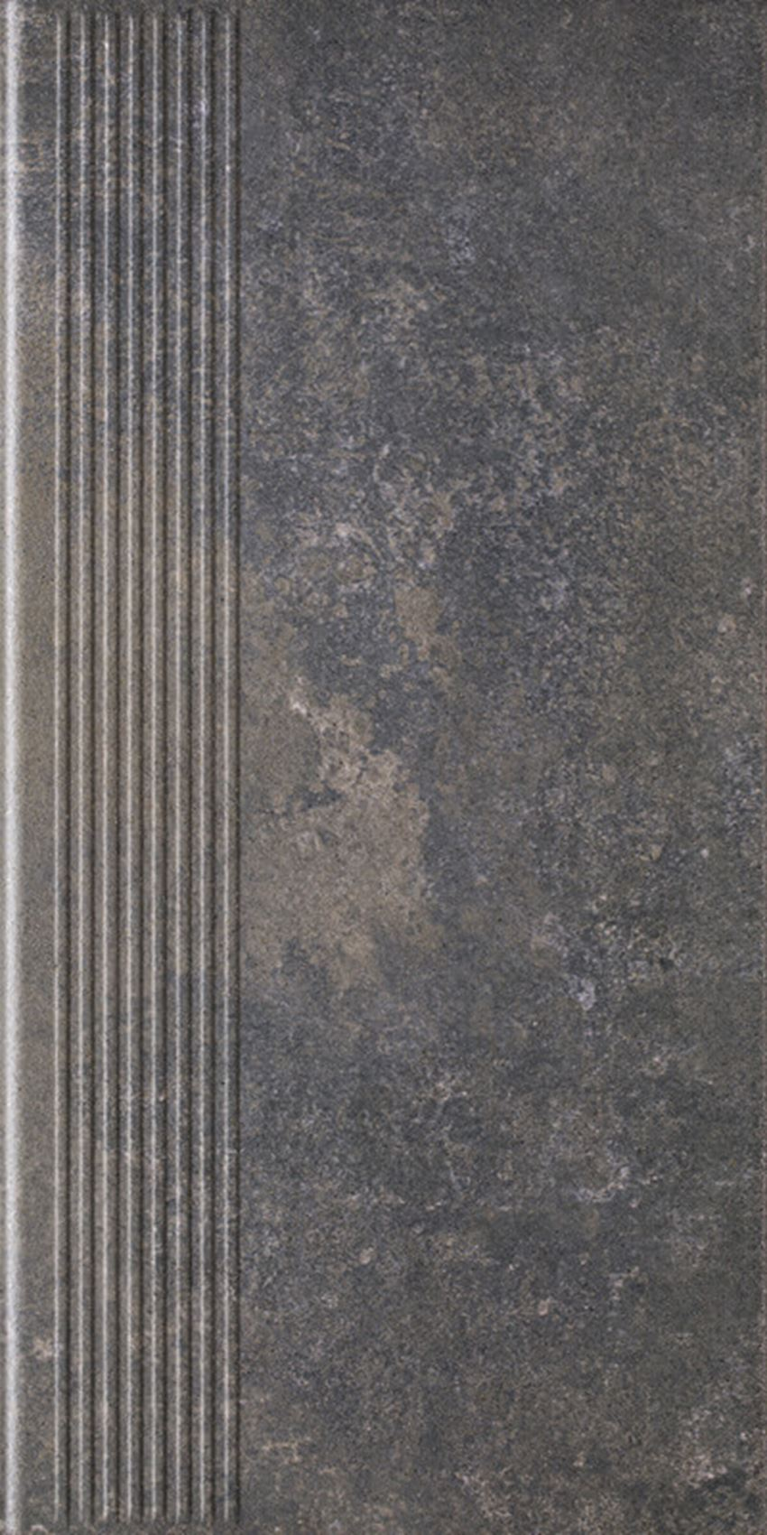 Płytka stopnicowa 30x60 cm Paradyż Viano Antracite Stopnica Prosta