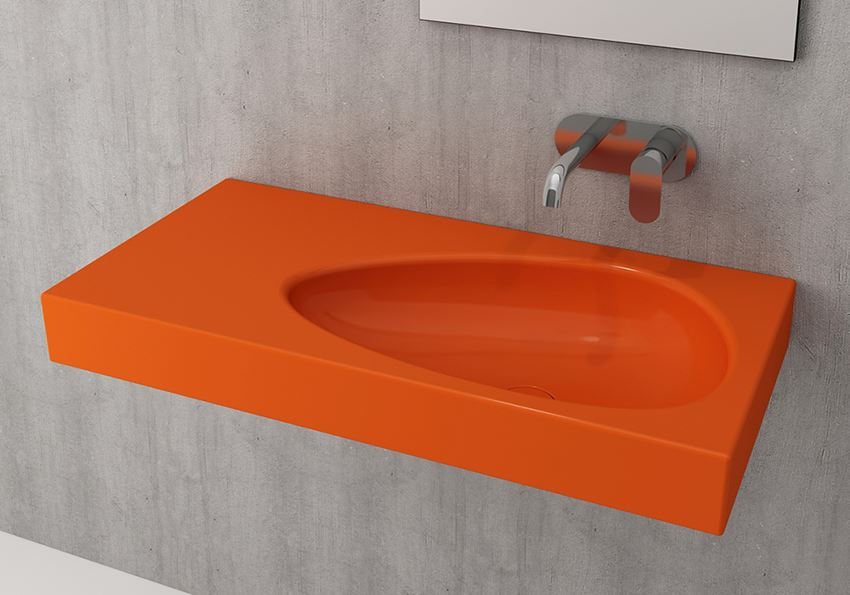 Umywalka ścienna/meblowa/nablatowa Glossy Orange Bocchi Etna