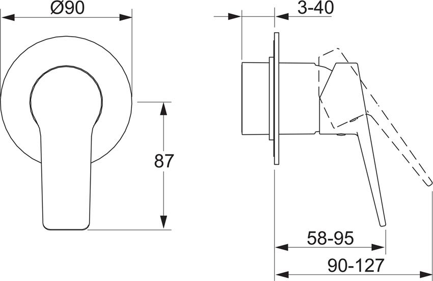 Element natynkowy do baterii natryskowej Oras Twista