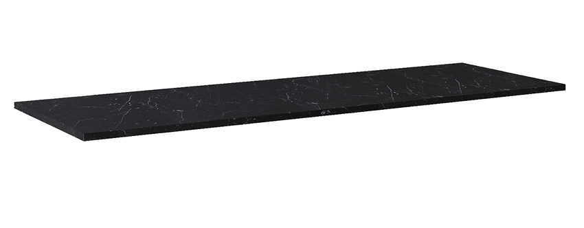 Blat naszafkowy pełny 190 cm Elita ElitStone MARMUR MARQUINA BLACK MATT