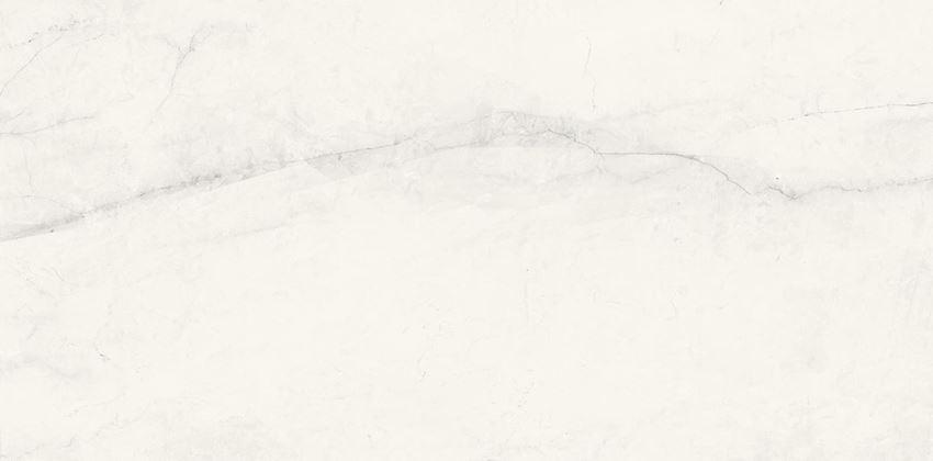 Płytka ścienna 29,7x60 cm Cersanit Textile flower white