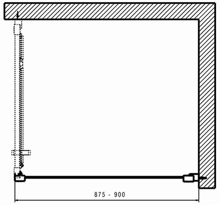 Ścianka boczna 90 Koło Geo rysunek techniczny