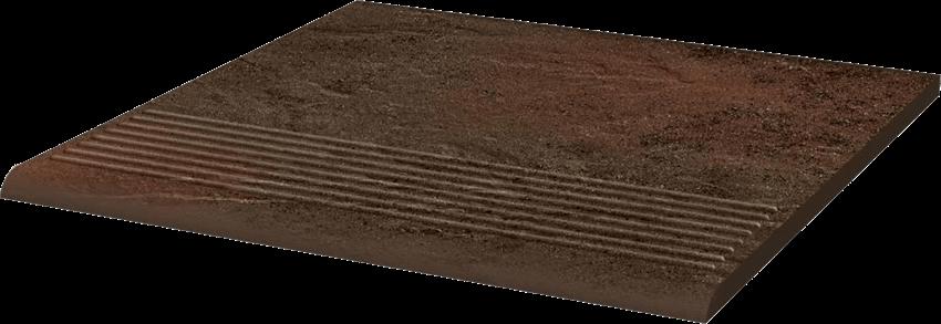 Płytka stopnicowa 30x30 cm Paradyż Semir Brown Stopnica Prosta