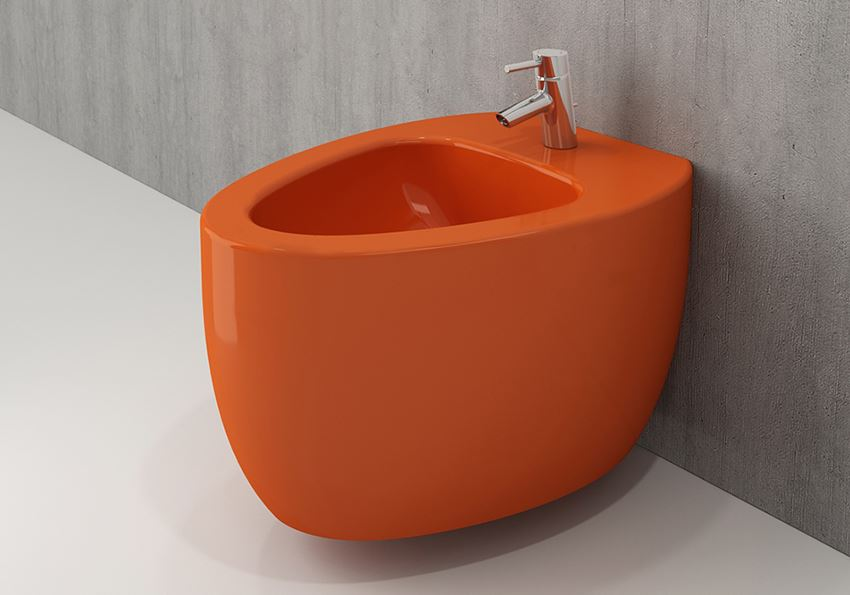 Bidet wiszący Glossy Orange Bocchi Etna