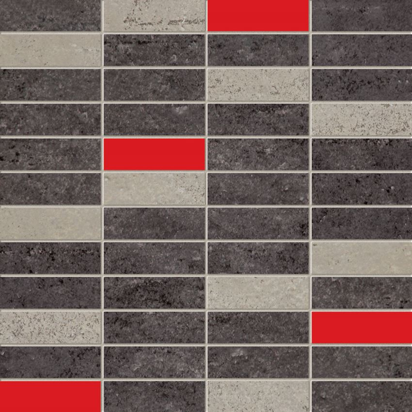 Mozaika ścienna 29,8x29,8 cm Domino Bihara grafit