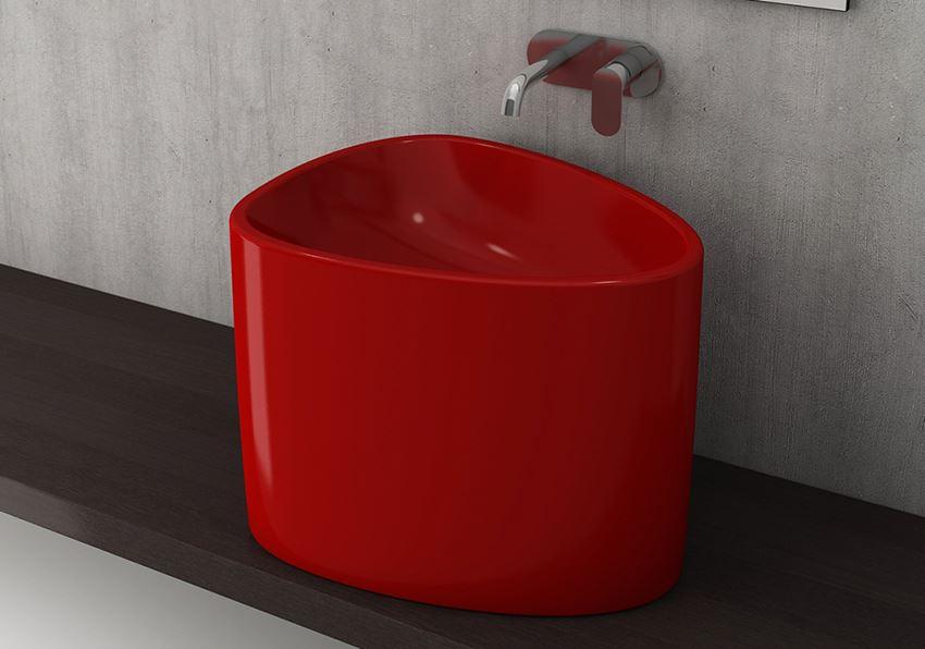 Umywalka nablatowa Glossy Red Bocchi Etna