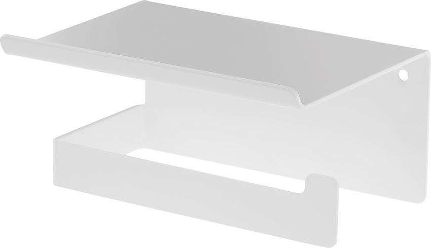 Uchwyt na papier toaletowy z półką Bianco Deante Mokko