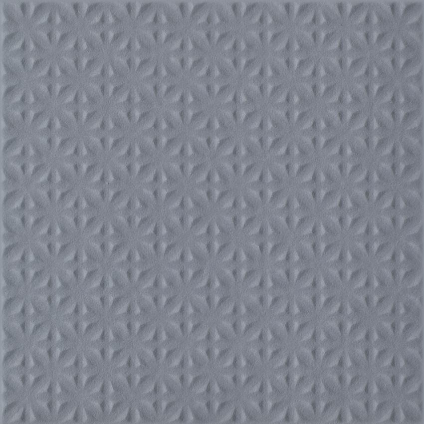 Płytka uniwersalna 19,8x19,8 cm  Paradyż Gammo Grafit Gres Szkl. Struktura