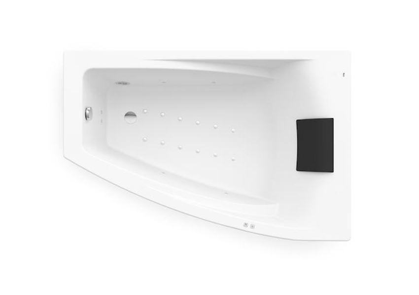 Asymetryczna narożna wanna akrylowa z hydromasażem Smart Air Plus Opcja 150x100 cm Roca Hall