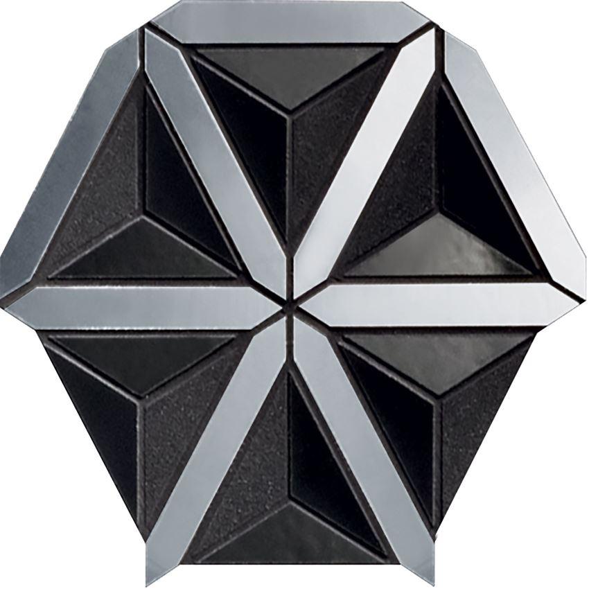 Mozaika 20,5x18,6 cm Tubądzin Lucid black
