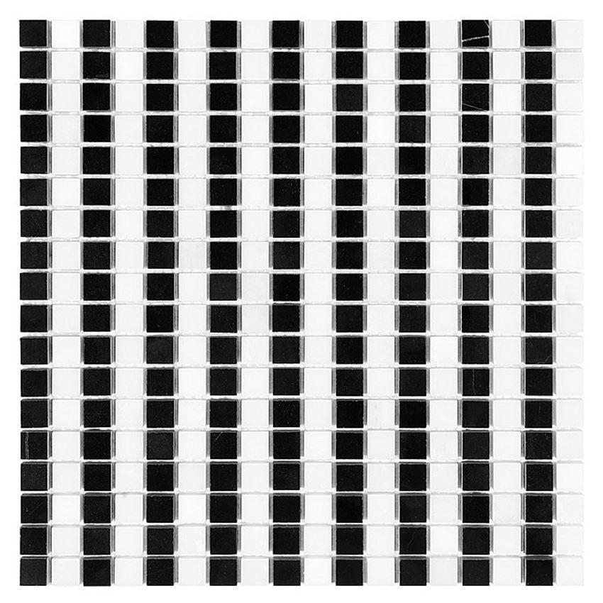 Mozaika 30,5x30,5 cm Dunin Black&White Pure B&W Strips 15