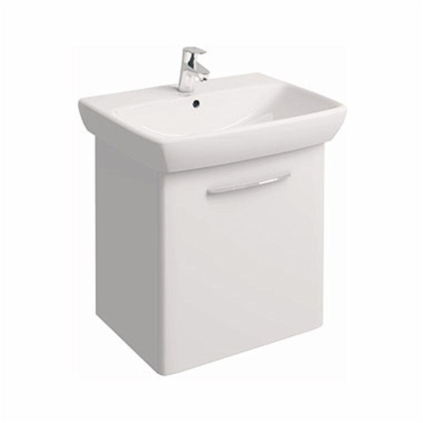 Szafka z umywalką 65 cm biały połysk Koło Nova Pro