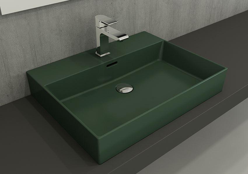 Umywalka meblowa/nablatowa/wisząca 60 cm Matte Green Bocchi Milano