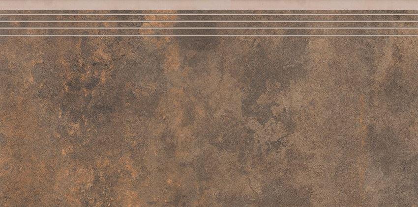 Płytka stopnicowa 29,7x59,7 cm Cerrad Apenino rust