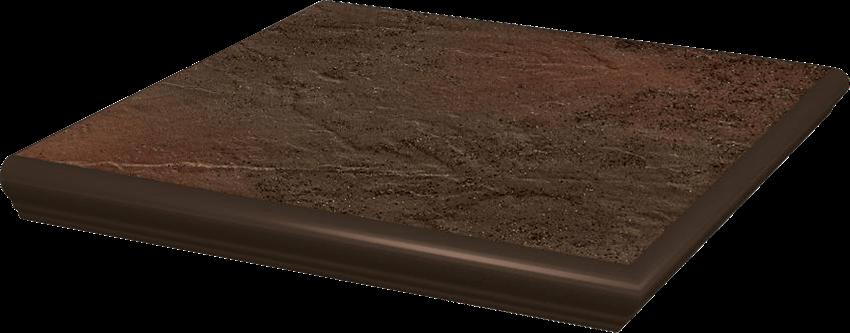 Płytka stopnicowa 33x33 cm Paradyż Semir Brown Kapinos Stopnica Narożna