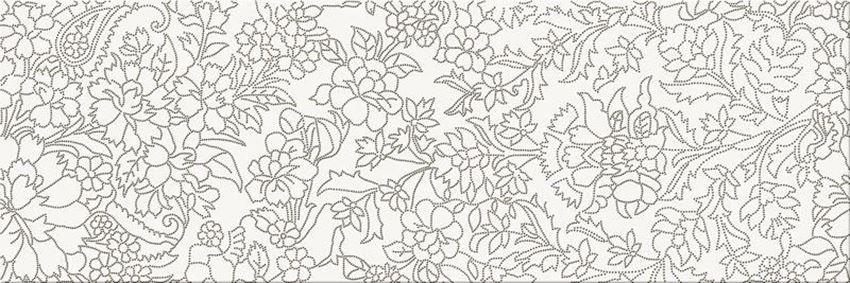 Płytka dekoracyjna Opoczno white inserto flower OD334-012