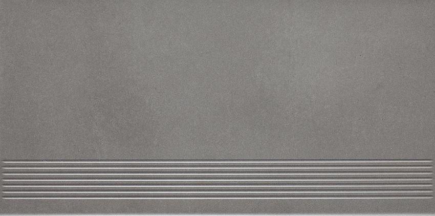 Płytka stopnicowa 29,8x59,8 cm Paradyż Naturstone Grafit