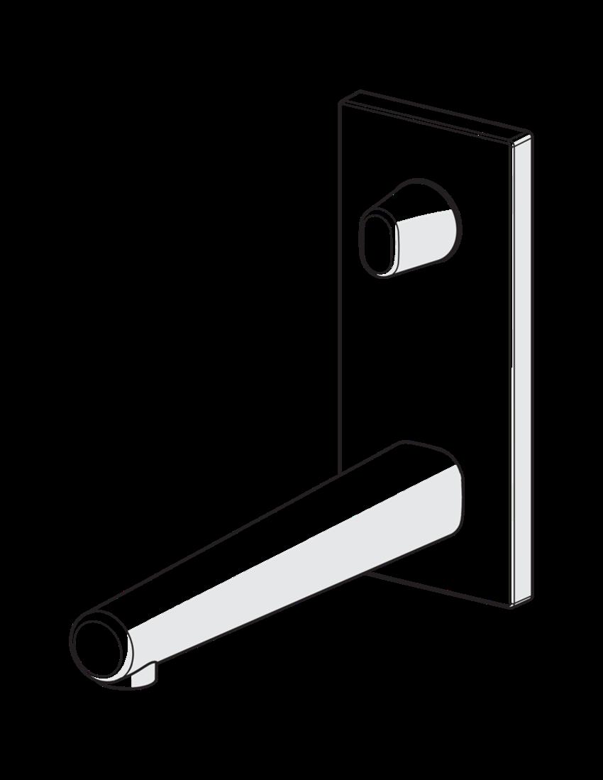 Element natynkowy do baterii umywalkowej podtynkowej Oras Inspera schemat