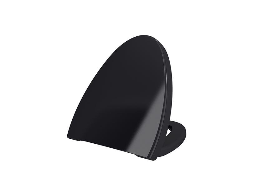 Deska WC duroplast wolnoopadająca Glossy Black Bocchi Etna