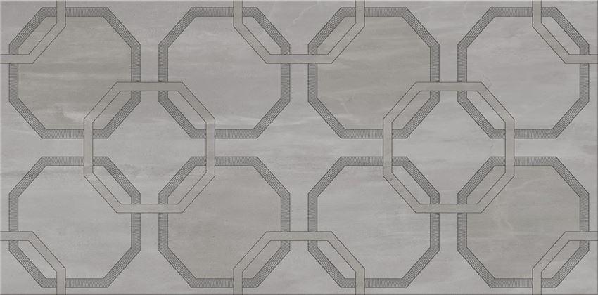 Dekor ścienny 29,7x60 cm Cersanit City Grey Inserto Geo