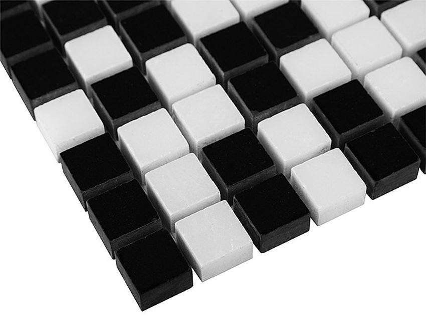 Mozaika 30,5x30,5 cm Dunin Black&White Pure Black mix 15