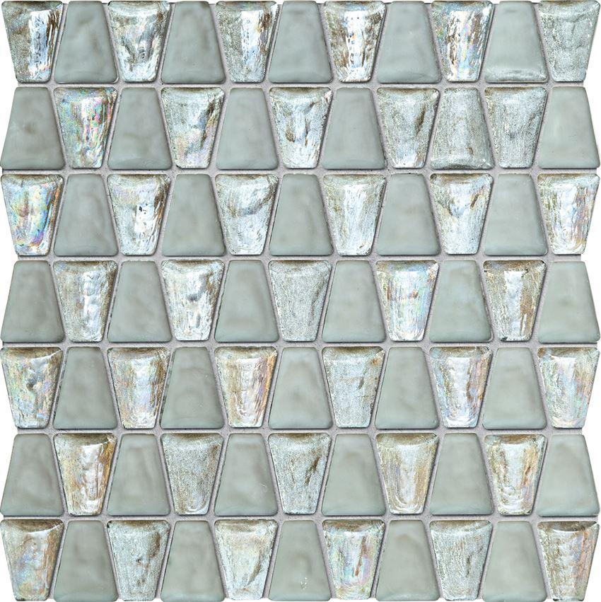 Mozaika 30,6x30,4 cm Tubądzin Elements Drops Glass White