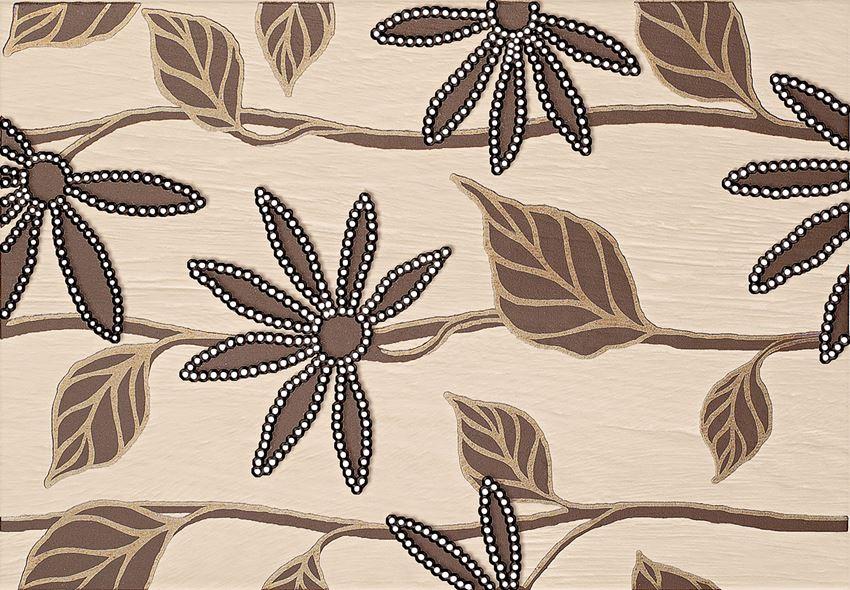 Dekor ścienny 36x25 cm Domino Bali brąz