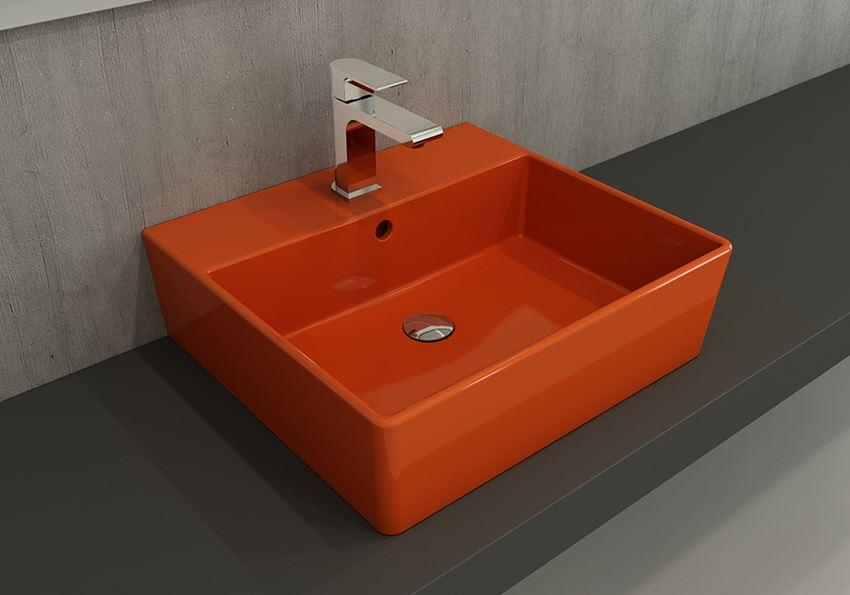 Umywalka meblowa/nablatowa/wisząca 50 cm Glossy Orange Bocchi Milano