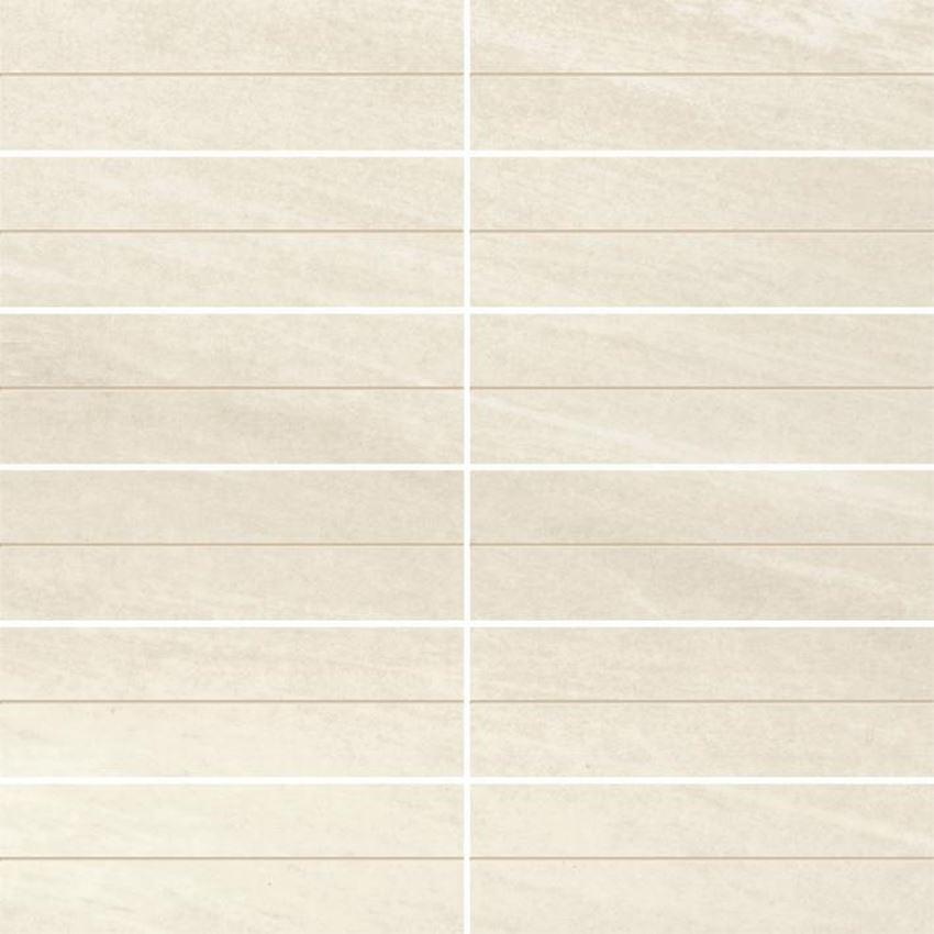Dekoracja podłogowa Paradyż Masto Bianco Inserto Nacinane A Paski Półpoler