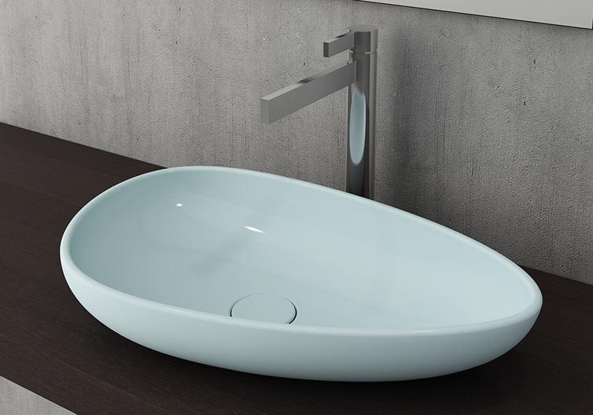 Umywalka nablatowa Matte Ice Blue Bocchi Etna