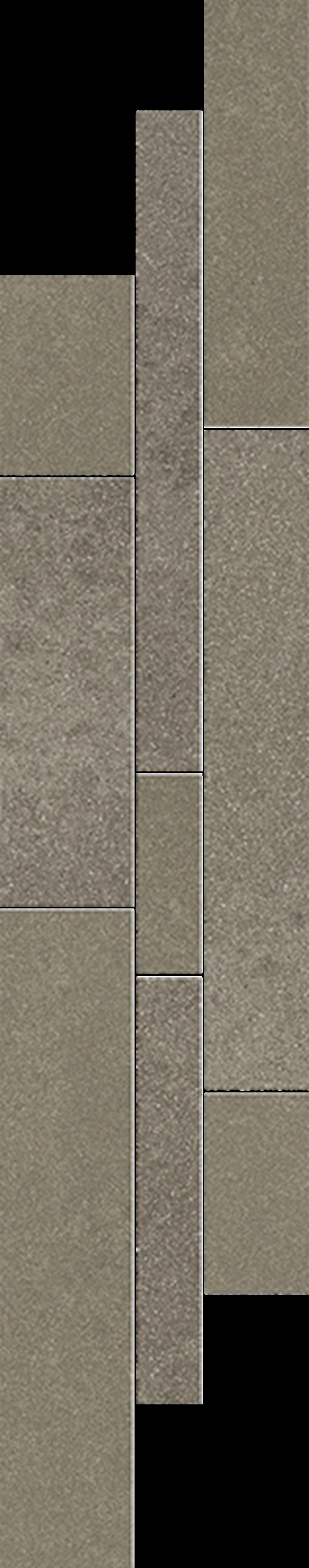 Dekoracja podłogowa 14,3x71 cm Paradyż Naturstone Umbra Listwa Mix Paski