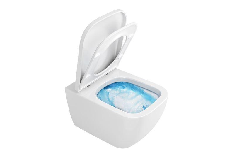Bezrantowa miska wisząca WC z deską Excellent Ness