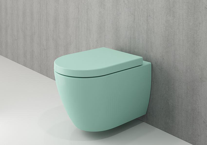 Miska WC wisząca bez deski Matte Mint Green Bocchi Milano
