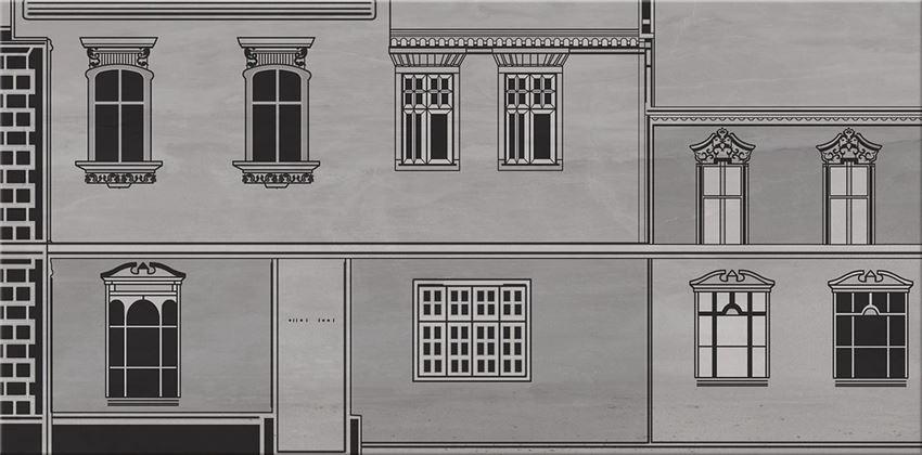 płytka dekoracyjna Cersanit City Grey Inserto House B WD613-010