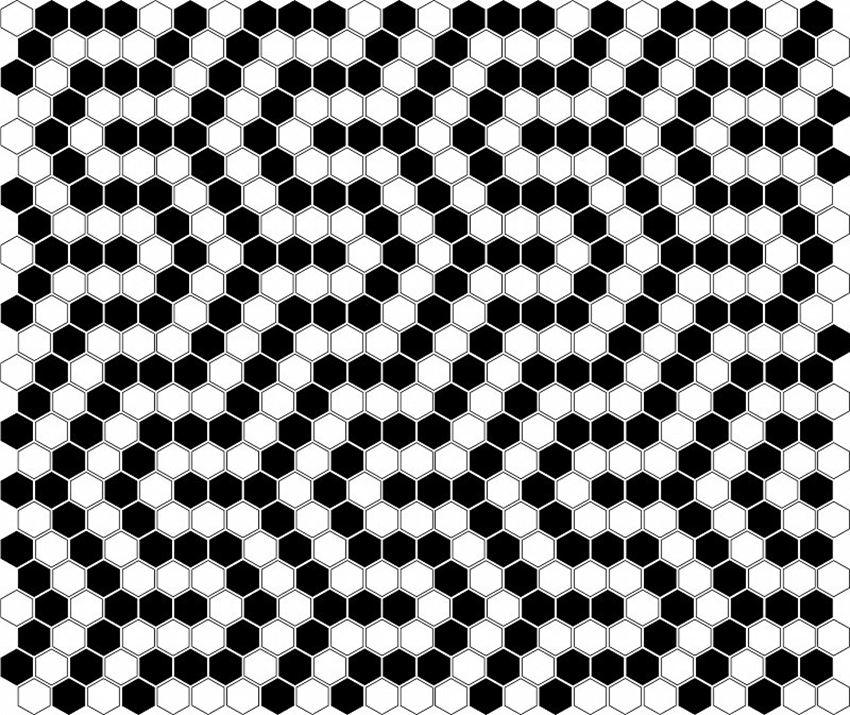 Mozaika 30x26 cm Dunin Hexagonic Mini Hexagon B&W Coral