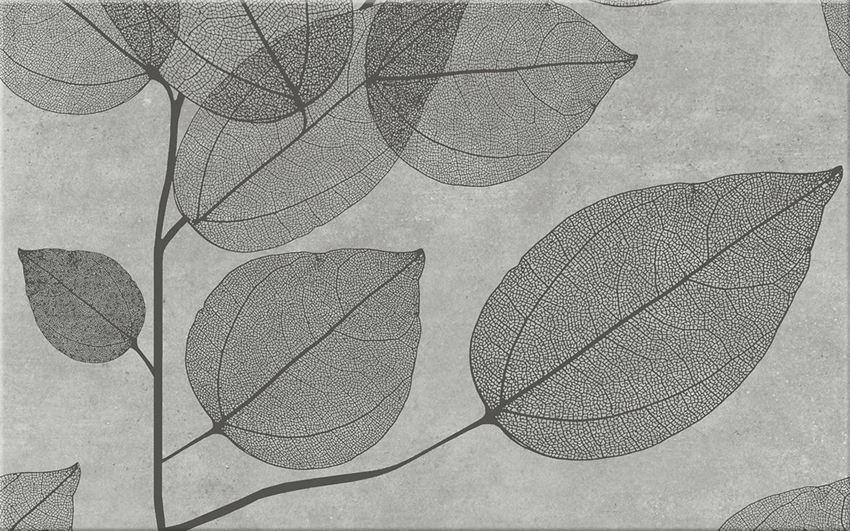 płytka dekoracyjna Cersanit Lussi Light Grey Inserto Leaf B WD439-003