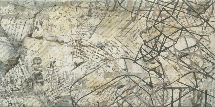 Dekoracja ścienna 30x60 cm Paradyż Ermeo Grys inserto A