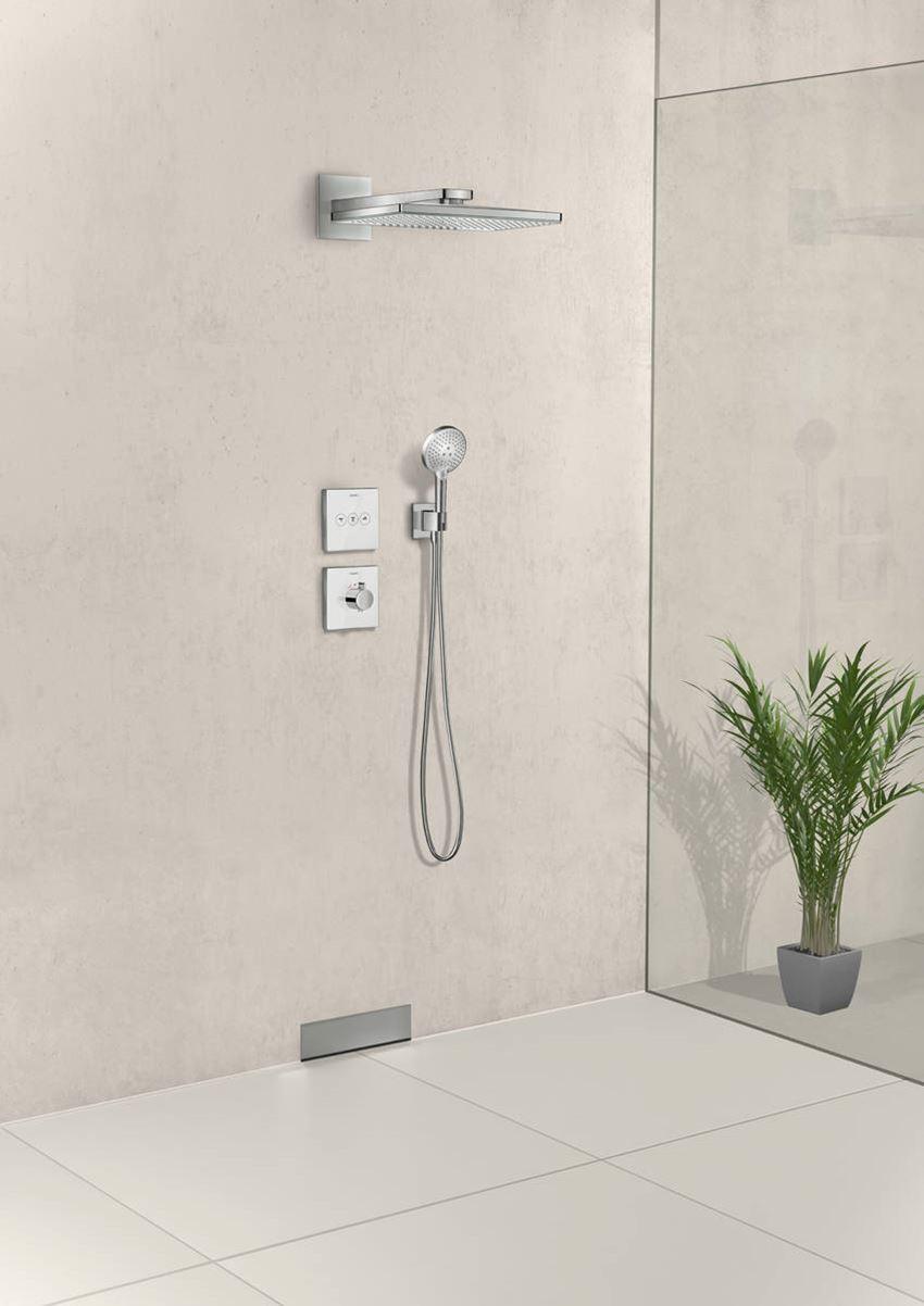 Przyłącze węża Square z uchwytem prysznicowym Hansgrohe FixFit