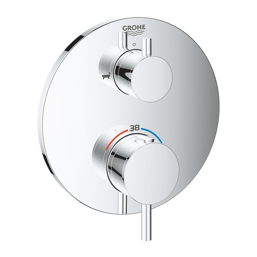 Termostatyczna bateria wannowa do obsługi dwóch wyjść wody chrom Grohe Atrio