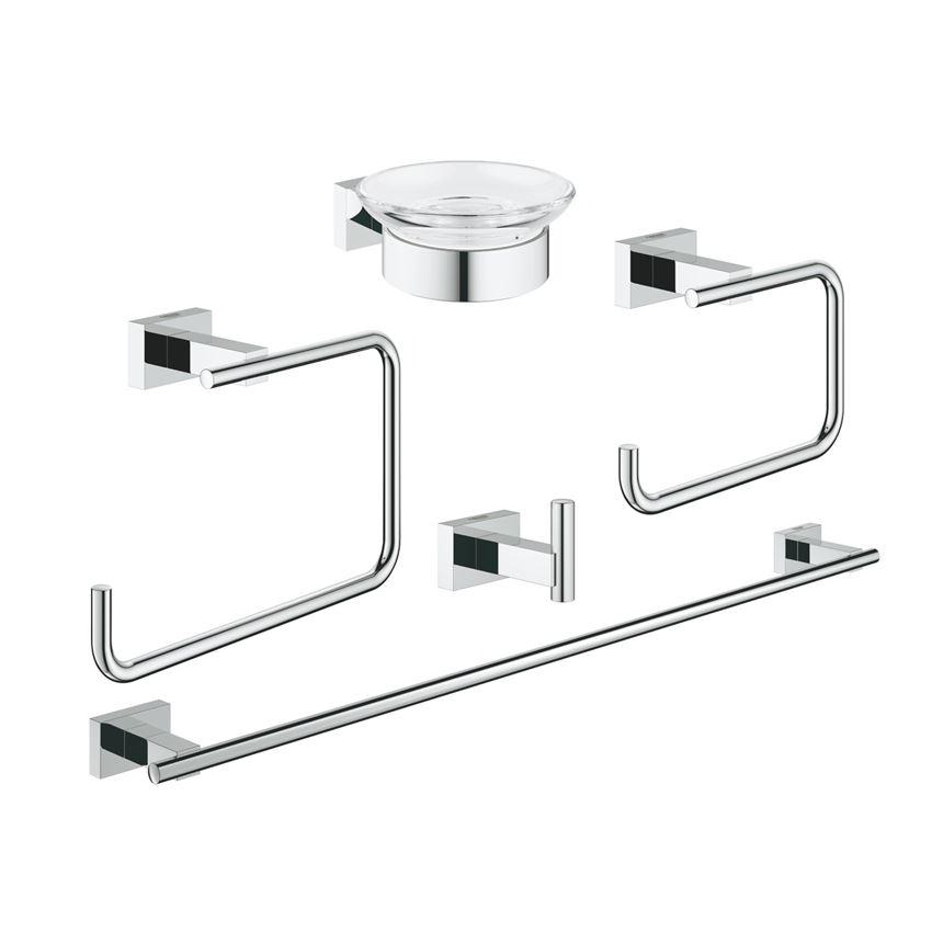 Zestaw akcesoriów łazienkowych 5 w 1 Grohe Essentials Cube