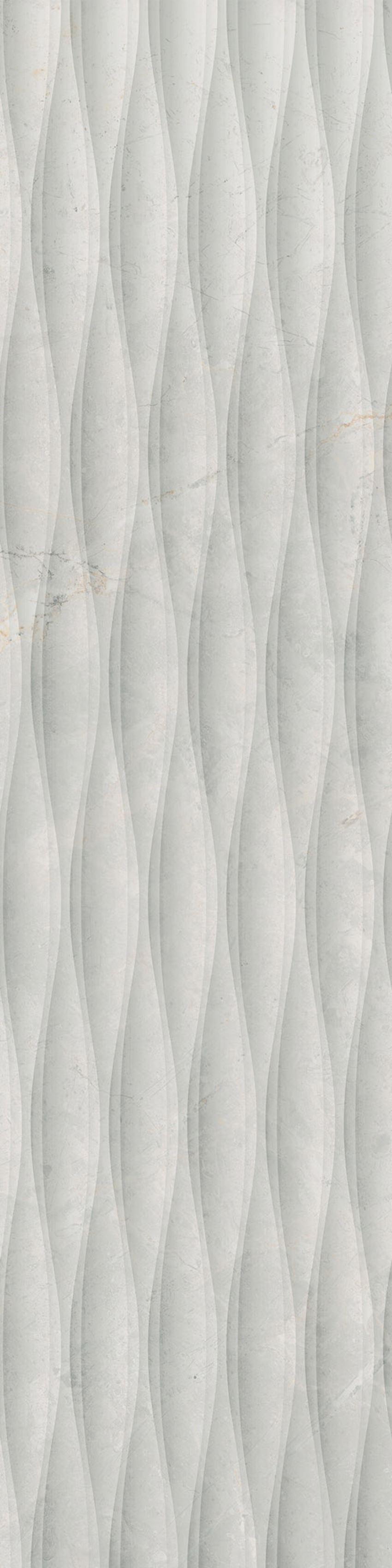 Płytka dekoracyjna  29,7x119,7 cm Cerrad Masterstone White Decor waves MAT